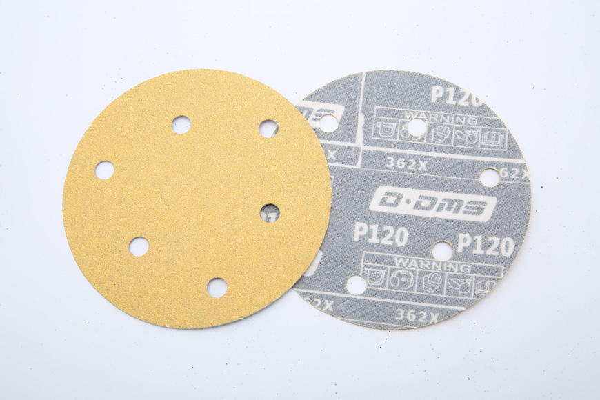 Flannelette yellow coating round 125 mm 6 holes