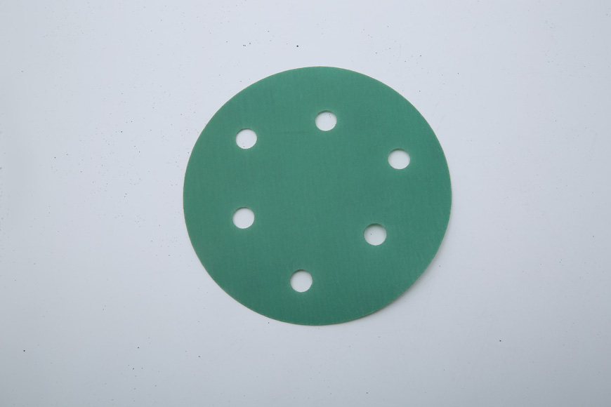 Flannelette green round 125 mm 6 holes