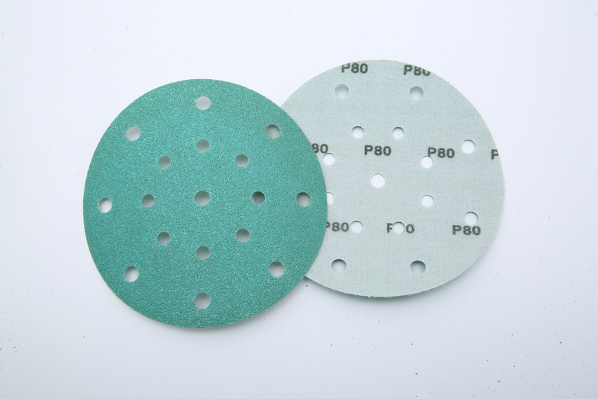 Flannelette green round 8 + 8 + 1 150 mm hole