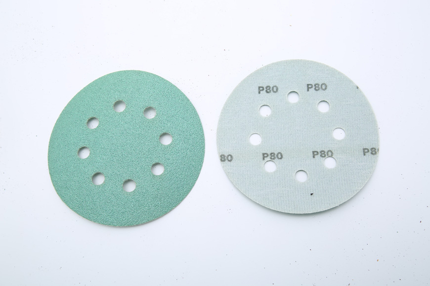 Flannelette green round 8 125 mm hole