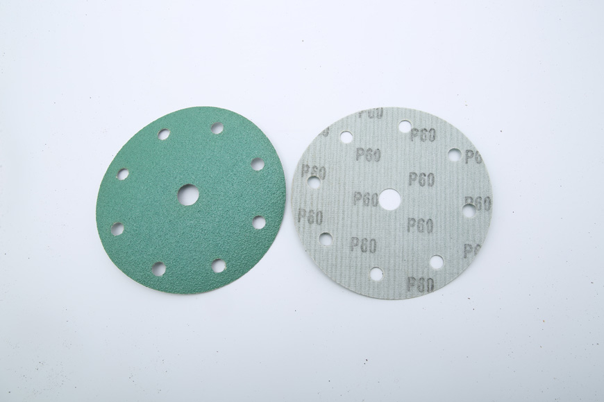 Flannelette green round 150 mm hole 8 + 1