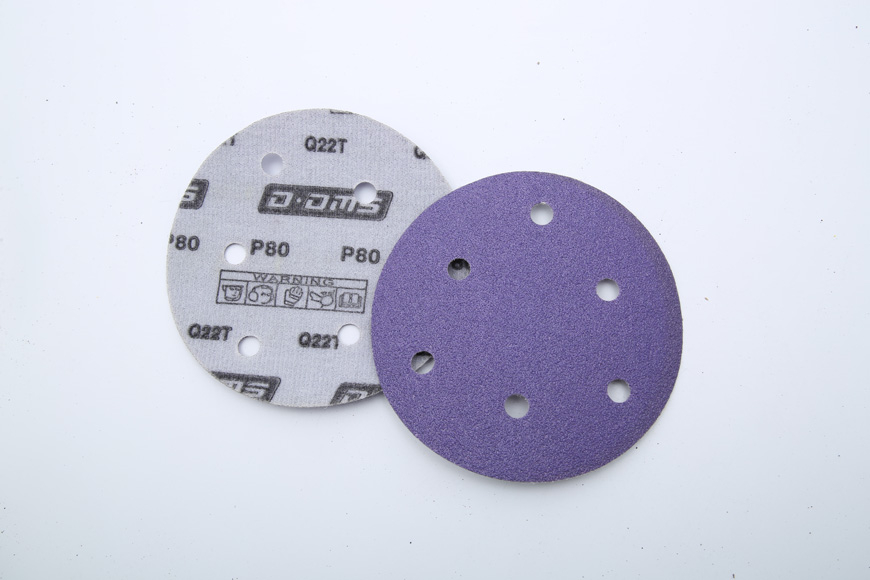 Flannelette purple round 125 mm 6 holes