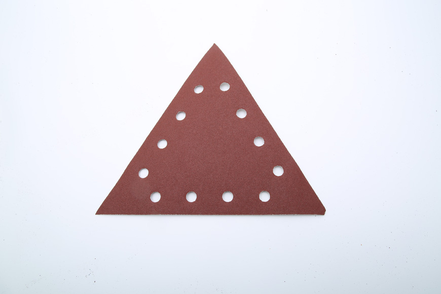 Flannelette piece of brown fused alumina triangle 12 hole 280 mm
