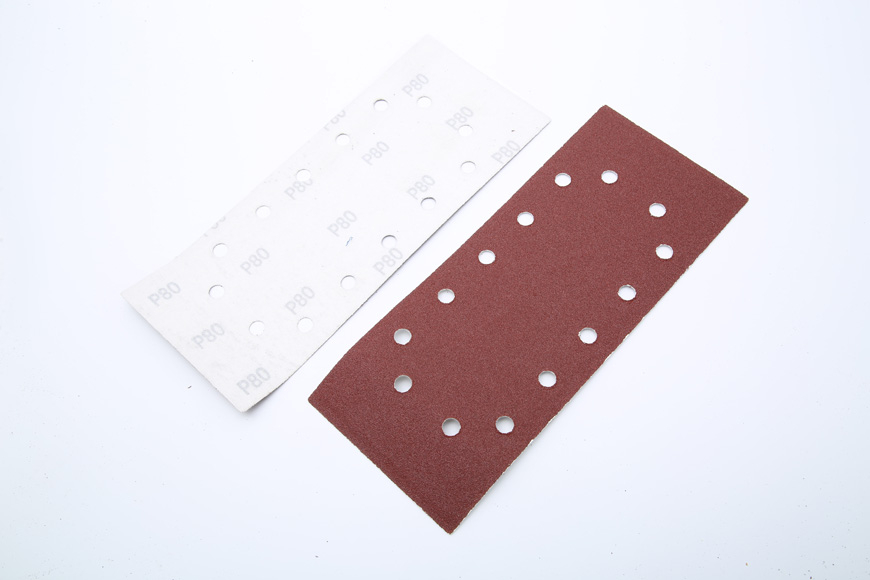 Flannelette piece of brown fused alumina rectangular 14 hole 280 mm - 115 mm